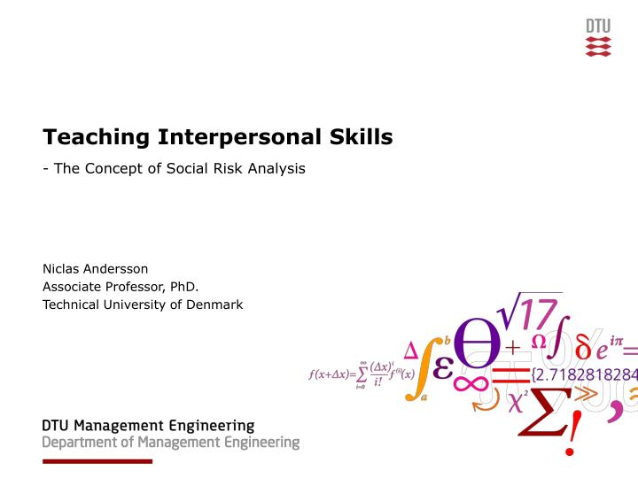 teaching interpersonal skills n.