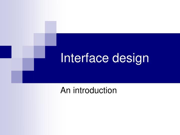 interface design n.