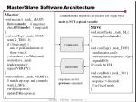 Master/Slave Software Architecture