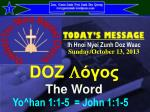 DOZ L όγος The Word