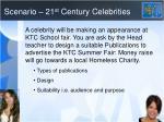 Scenario – 21 st  Century Celebrities