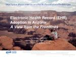 Electronic Health Record (EHR) Adoption in Arizona: A View from the Frontlines