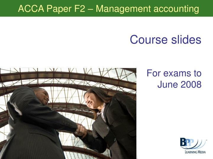 acca paper f2 management accounting n.
