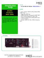 ▶ 구성 • 75 ohm AES DA Module : NAES-3000A x 1