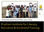 Pratham Institute for Literacy, Education & Vocational Training