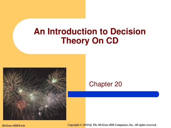 an introduction to decision theory on cd n.