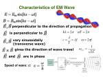 Characteristics of EM Wave