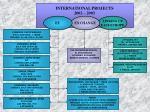 INTERNATIONAL PROJECTS 2002 – 2003