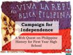 Campaign for Independence