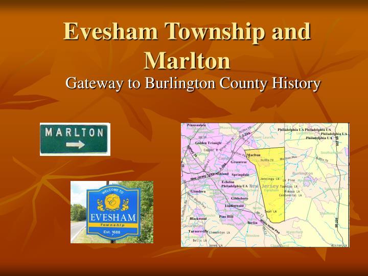 evesham township and marlton n.