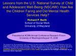 Richard P. Barth School of Social Work University of Maryland