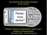 Parlez-vous textos ?