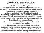 """""""ZURÜCK ZU DEN WURZELN"""" So hieß es in der Rheinpfalz ."""