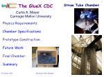 The GlueX CDC