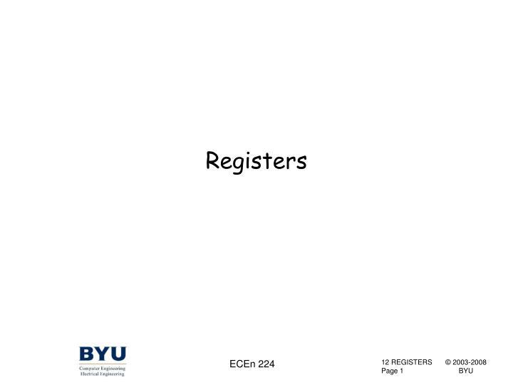 registers n.