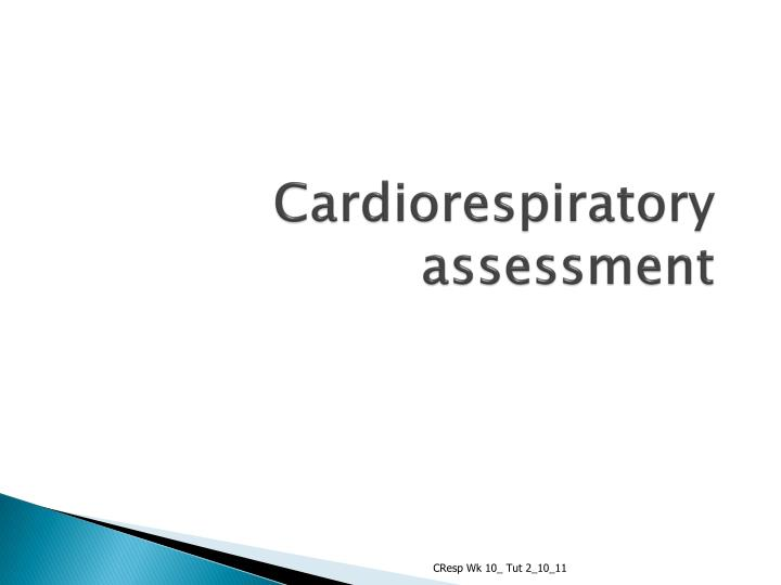 cardiorespiratory assessment n.