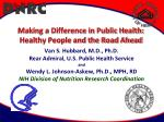 Making a Difference in Public Health: Healthy People and the Road Ahead