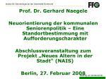 Prof. Dr. Gerhard Naegele