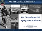 Joint Finance/Supply PRC Ongoing Financial Initiatives By Bob Hammond