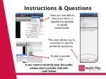 Instructions & Questions