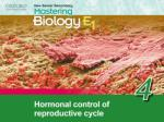 Think about… 4.1 Hormonal control of the menstrual cycle 4.2 Use of hormones Recall 'Think about…'