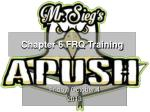 Chapter 6 FRQ Training