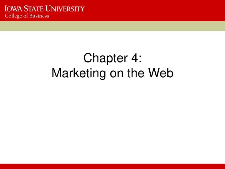 chapter 4 marketing on the web n.