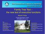 Family Tree Test – the new test of executive functions