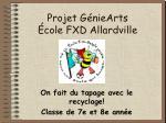 Projet GénieArts École FXD Allardville