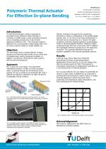 Polymeric Thermal Actuator For Effective In-plane Bending