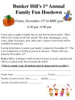 Bunker Hill's 1 st Annual Family Fun Hoedown