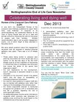 Nottinghamshire End of Life Care Newsletter