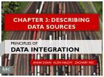 CHAPTER 3: DESCRIBING DATA SOURCES