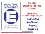 TM 720 Statistical Process Control Spring 2008 Dr. Frank Joseph Matejcik