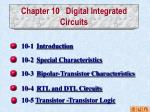 Chapter 10   Digital Integrated Circuits