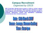 Campus Recruitment Organized by CECS