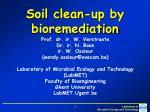 Soil clean-up by bioremediation
