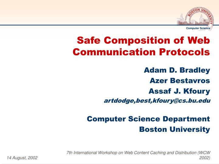 safe composition of web communication protocols n.