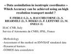 F. FIERLI (1,2), A. HAUCHECORNE (2), S. RHARMILI (2), S. BEKKI (2), F. LEFEVRE (2), M. SNELS (1)
