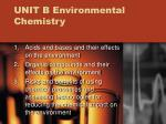 UNIT B Environmental Chemistry