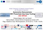 Automotive Demonstrator HEV Powertrain Use Case Tooling nSC WP520 Roland Mader, AVL List GmbH