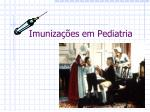 Imunizações em Pediatria