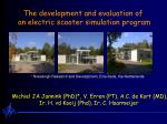 The development and evaluation of  an electric scooter simulation program