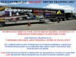 """GLT CAN PROVIDE  """"ON-SITE"""" ERTMS TRAINING 24X7"""