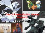 New Pokémon English Names Revealed!