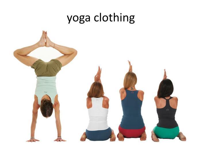 yoga clothing n.