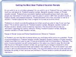 Getting the Most Ideal Thailand Vacation Rentals