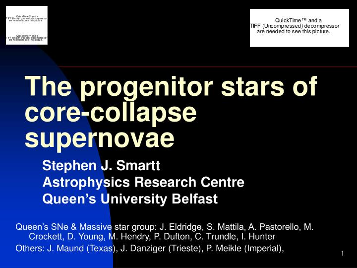 the progenitor stars of core collapse supernovae n.