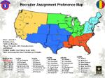 Recruiter Assignment Preference Map