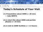 Today's Schedule of Your Visit